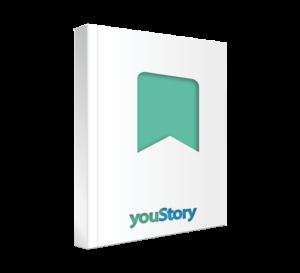 Prestation de création et d'impression de marque-pages auteur youStory