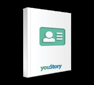 Prestation de création et d'impression de cartes de visite d'auteur youStory