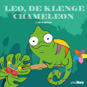 Couverture livre pour enfant Léon, le petit caméléon (version Luxembourg)